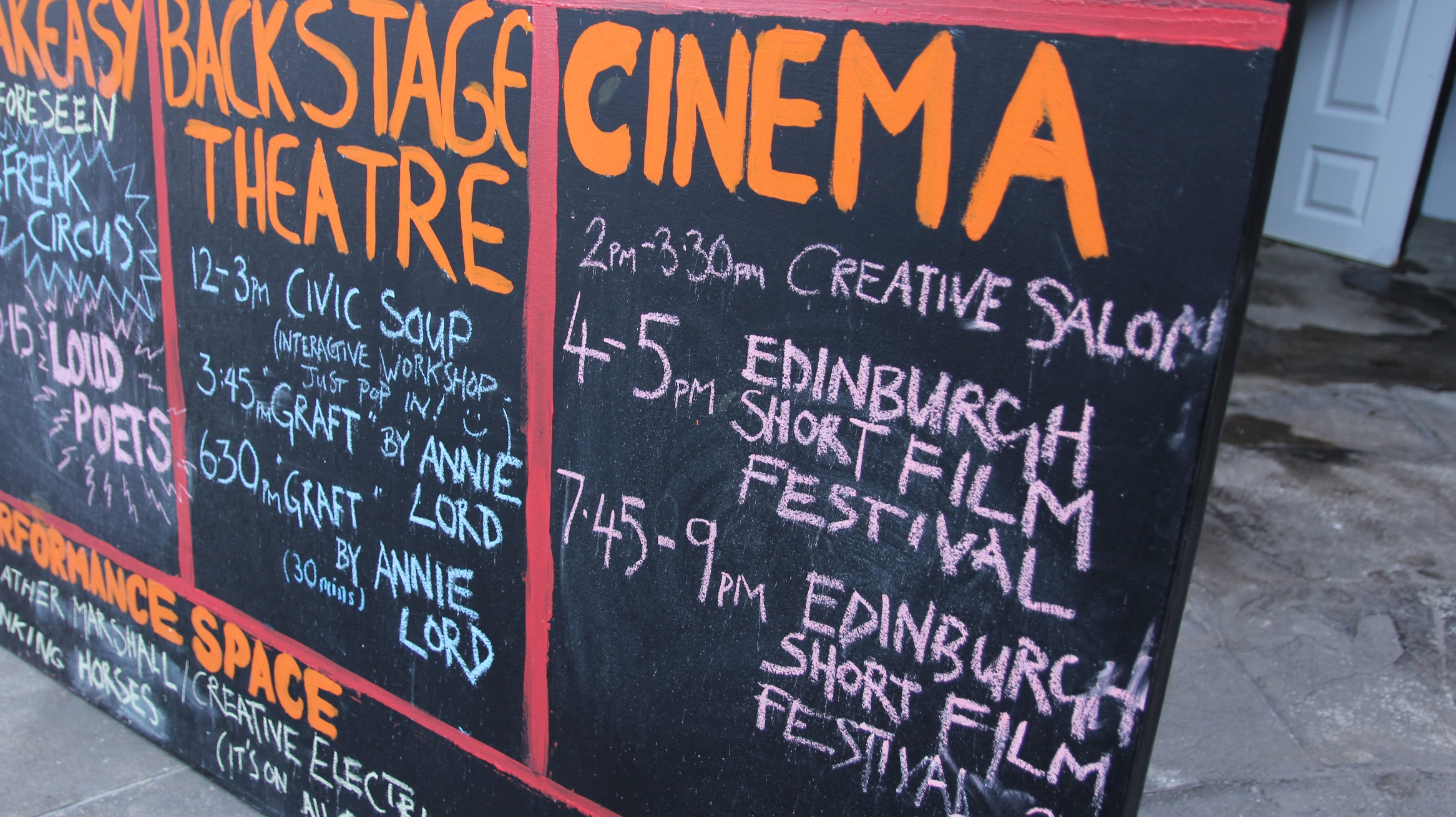 Edinburgh Short Film Festival at Hidden Door 2017,the Leith Theatre