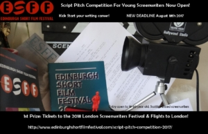 EDINBURGH SHORT FILM FESTIVAL SCRIPT PITCH 2017