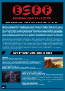 EDINBURGH SHORT FILM FESTIVAL AT BUSHO BUDAPEST SHORT FILM FESTIVAL 2020